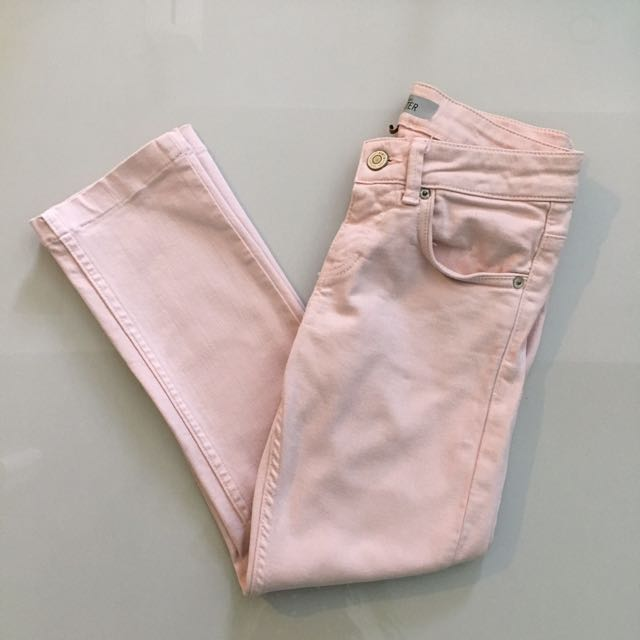 Topshop Baxter Skinny Jeans Dusty Pink