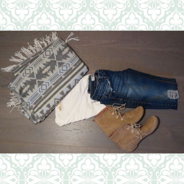 Tribal Blanket Scarf By L.A Express