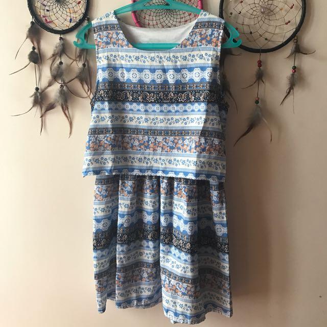 Tribal Skyblue Dress