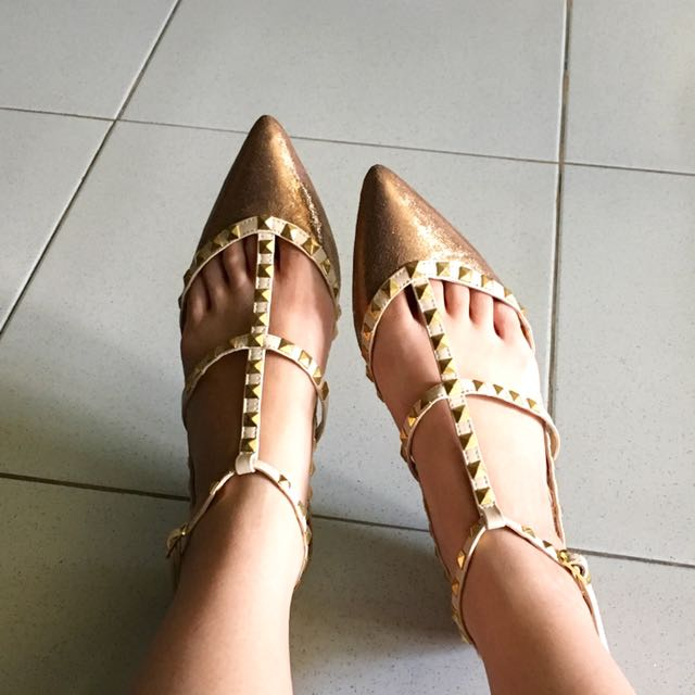 Tutumshop Keira Valentino Inspired Shoes Bronze