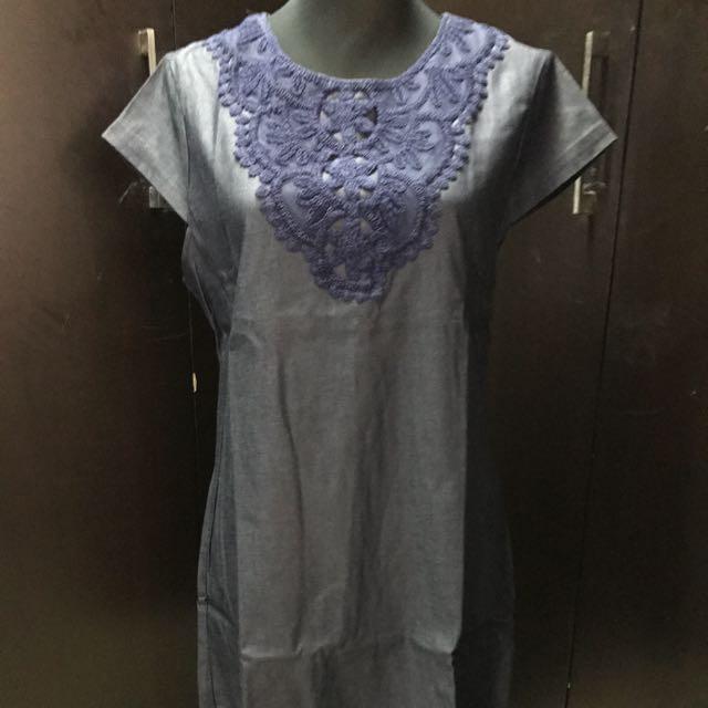 Unbranded Denim Shift Dress