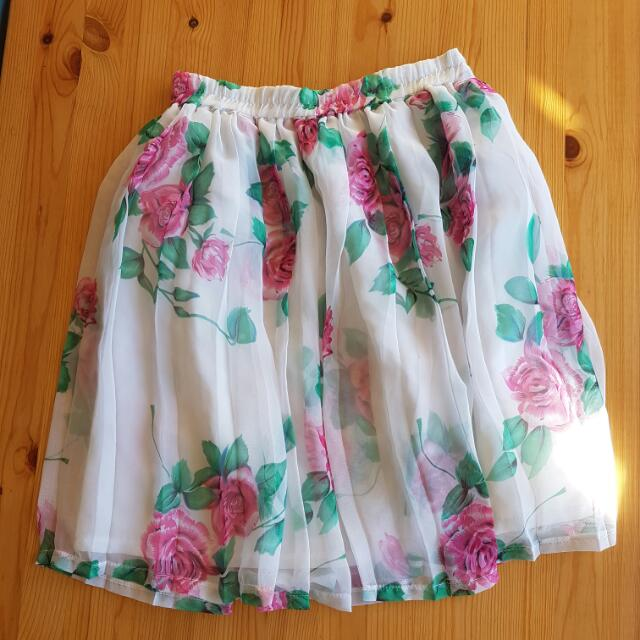 Vintage 1980s Floral Skirt