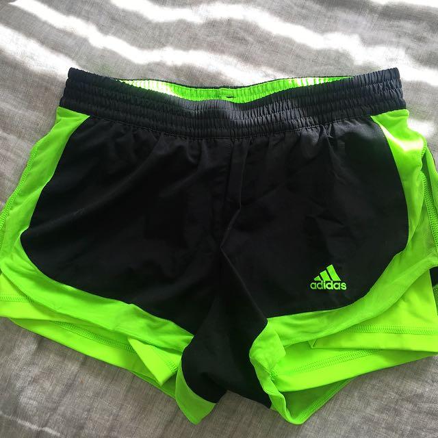 Xs Adidas Green Running Shorts