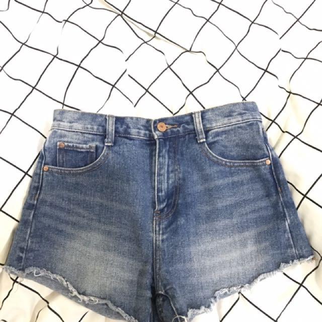 Zara高腰牛仔褲