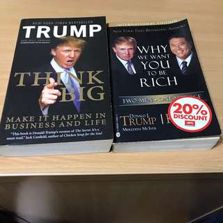 Think Big & Why We Want You To be Rich (2 Books)