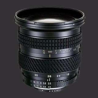 Tokina 19-35mm f/3.5-5.6 fir Nikon (FX) Mount