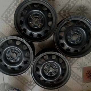 Honda Steelies Steel Rims 14's pcd 100