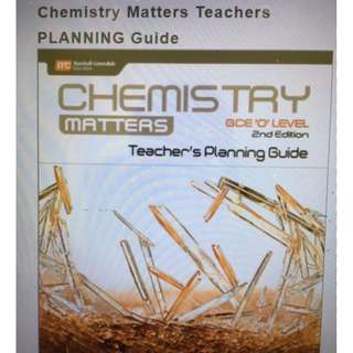 Chemistry Matters GCEO Level teachers planning guide