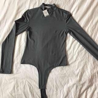 Turtleneck Thong Bodysuit From M