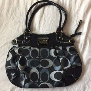 Black And Blue Coach Purse