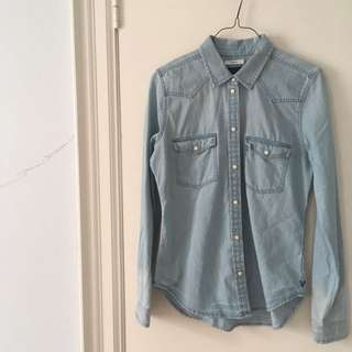 New American Eagle Denim Shirt