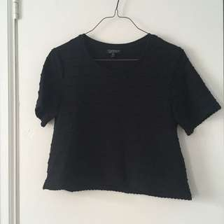 New TopShop Black Crop