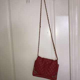 Forever21 Red Chain Purse