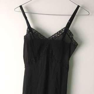 Vintage Black Slip Dress