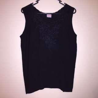 Black Singlet Size 8-10