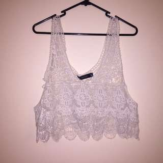 Glassons Crochet Crop Top Size OS