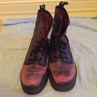 Purple Doc Martens Size 7-8