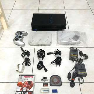 Sony PS2 PlayStation2 and PS1 PlayStation1
