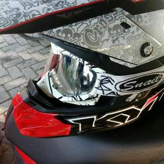 Helm KYT cross Over Plus Kacamata Google