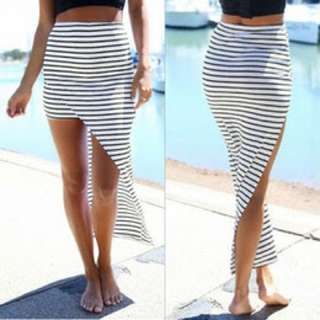 Stripe Black And White Skirt