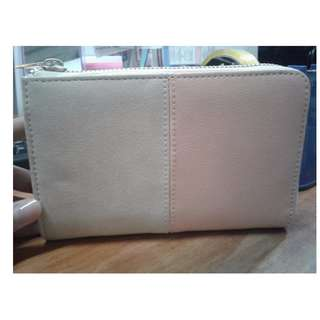 M+FGirbaud Wallet (Nude and Peach)