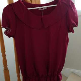 BNWT Ladies Chiffon Top / Blouse - Size Small