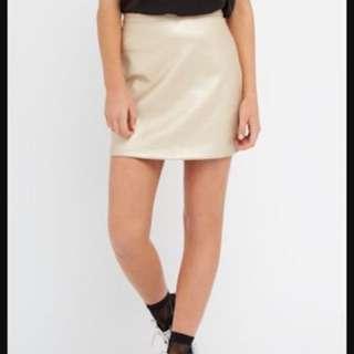 Gold Skirt From Factorie