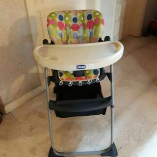 Chicco spotty high chair