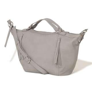 Lavish Alice Dove Grey Zip Detail Oversized Bag