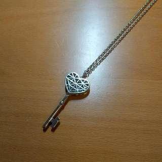 F21 Heart Key Necklace