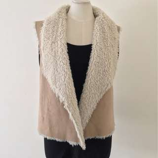 FAWN FAUX FUR VEST - DISCOUNTED, SO WARM THIS WINTER