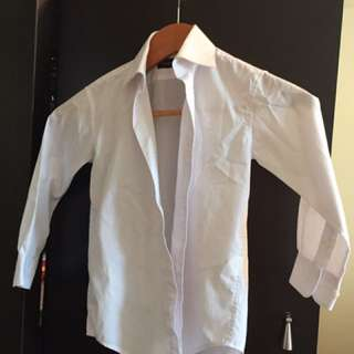 Boy's crisp white dress shirt - size 8 and size 6 available