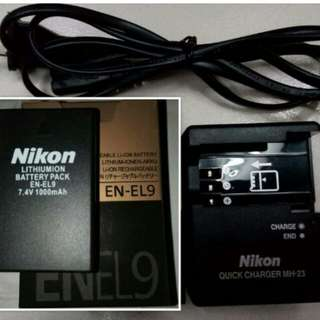 EN-EL9 Battery And Charger