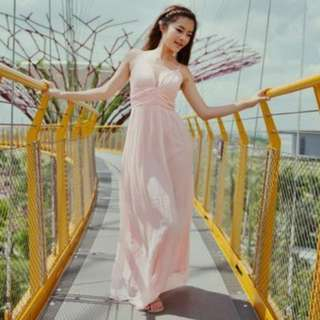 BNWT Agneselle Valentine Maxi Dress - Pink