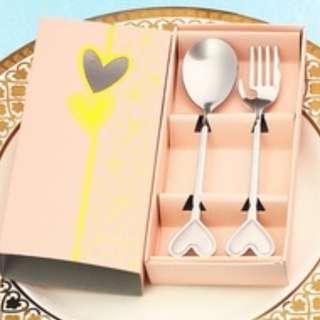Elegant spoon and Fork Wedding Souvenir Giveaway