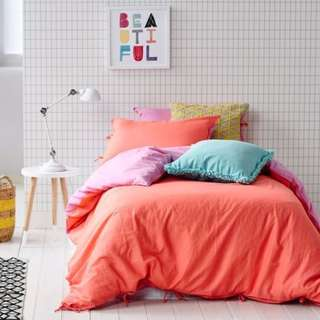 Pink and Orange Cotton On Doona Cover