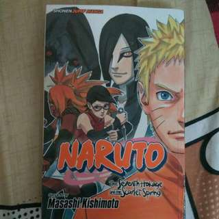 [INCL POSTAGE] NARUTO THE SEVENTH HOKAGE AND THE SCARLET SPRING MANG