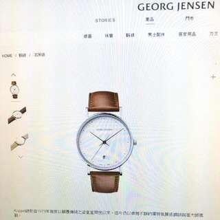 【降】Georg Jensen 喬治 傑生-經典典雅石英錶