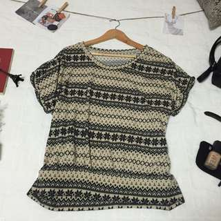 Aztec Knitted Top