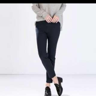 Zara Woman Navy Cigarette Suit Pants