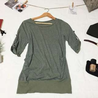 Olive 3/4 Top