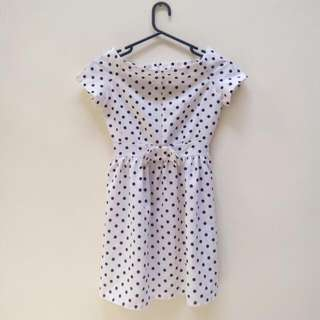 New ! Polka Dress Size fit To M