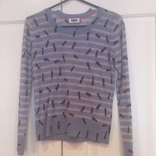 Sonia By Sonia Rykiel Top Sweater Long Sleeve Small