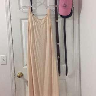 cute peach maxi dress