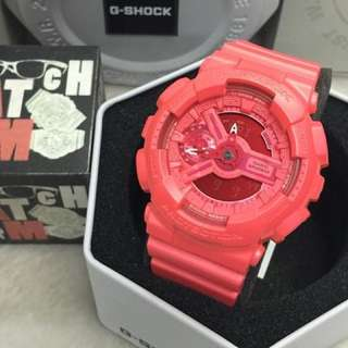 Casio G-Shock S Series Ladies Hot Pink Resin Watch GMAS110VC-4A