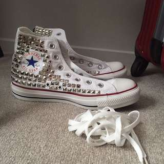 Converse Chuck Taylor High Top White Studded