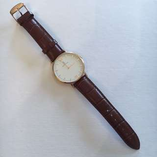 Kapten And Son Brown Croc Watch