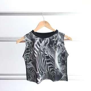 Zebra Stripe Crop Top