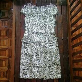 💖ATMOSPHERE SNAKESKIN DRESS