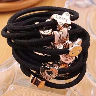湊優惠💪🏼現貨✔️批發價✨超值韓國🇰🇷髮飾髮圈扎頭髮橡皮筋黑髮繩頭飾小飾品可愛黑色實拍照特價優惠買到賺到